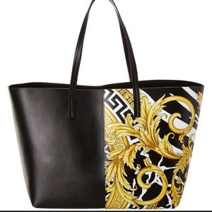 Versace Savage Leather Tote